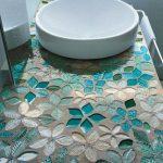 Mozaik Banyo Lavabo Modeli