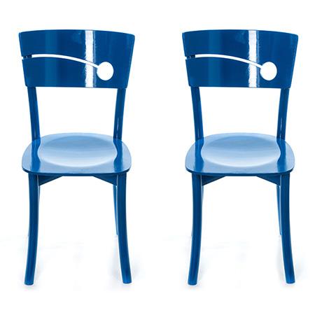 Dekoratif Mavi Sandalye Modeli