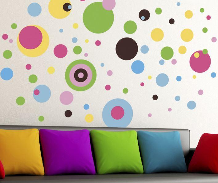 Renkli Duvar Sticker Modelleri (21)