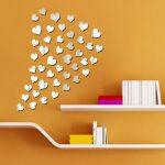 Romantik Dekoratif Sticker Ayna Modeli
