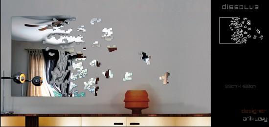 Soyut Dekoratif Sticker Ayna Modeli