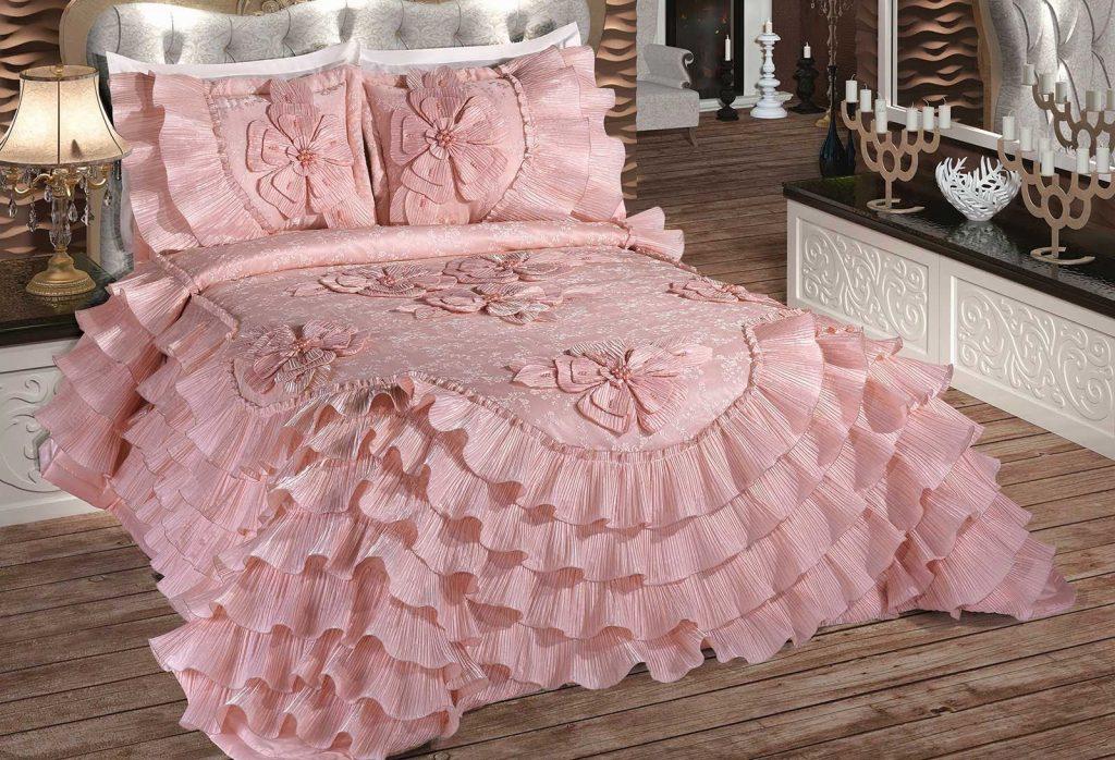 ceyizlik suslu yatak ortuleri