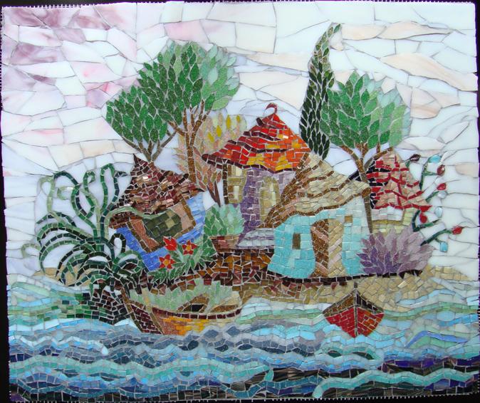 dekoratif mozaik tablo
