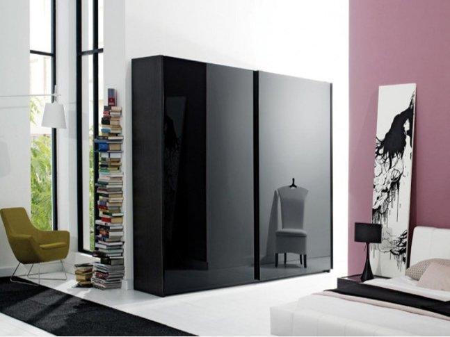 siyah modern 2015 gardrop modeli