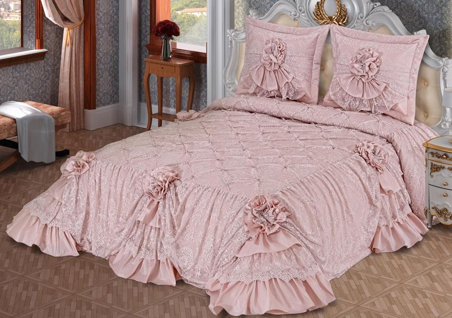 yeni moda gosterisli yatak ortuleri