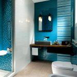 Mavi Banyo Dekorasyonu Fikirleri (2)