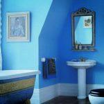 Mavi Banyo Dekorasyonu Fikirleri (8)