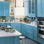 Mavi Mutfak Dekorasyon Fikirleri (10)