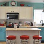 Mavi Mutfak Dekorasyon Fikirleri