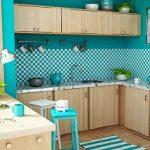 Mavi Mutfak Dekorasyon Fikirleri (18)