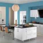 Mavi Mutfak Dekorasyon Fikirleri (19)