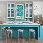 Mavi Mutfak Dekorasyon Fikirleri (5)