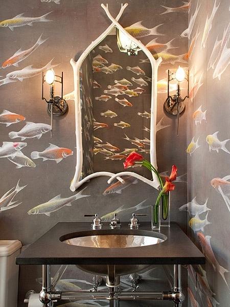balik resimli banyo duvar kagidi