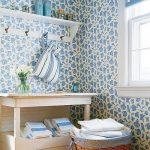 mavi beyaz desenli duvar kagidi