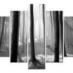 Siyah-Beyaz Kanvas Dekoratif Tablo Modelleri (12)