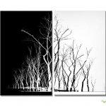 Siyah-Beyaz Kanvas Dekoratif Tablo Modelleri (18)
