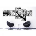 Siyah-Beyaz Kanvas Dekoratif Tablo Modelleri (23)