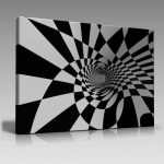 Siyah-Beyaz Kanvas Dekoratif Tablo Modelleri (25)