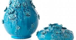 Turkuaz Renkli Dekoratif Seramik Aksesuarlar (12)