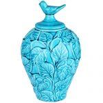Turkuaz Renkli Dekoratif Seramik Aksesuarlar (4)