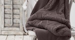 Chakra Tekstil Toprak Rengi Battaniye Modeli